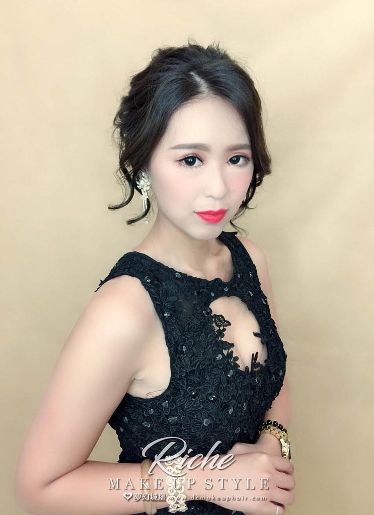 【新秘RICHE】新娘造型創作 / 優雅盤髮造型