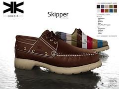 Skipper :: Unisex Shoes :: 10 Colors ({kokoia}) Tags: skipper kokoia sneakers shoes sport male man adam slink signature belleza jake gianni tennis casual mesh maitreya eve tmp unisex deporte zapato 3d avatar