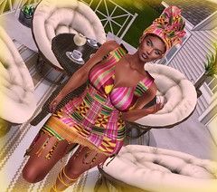 Jealous of the wind (Sultry ALLURE) Tags: chantelsatine chantel catwa artizana kente sultryallure satine secondlife sl avatar maitreya makeup blog blogger bento headpiece headwrap ncore sailor