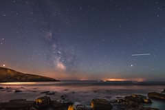 Southerndown, Wales  mars, Jupiter, the Milkyway and the ISS (jamesdarby2409) Tags: astro photography landscape outdoors sky love pretty prettty walesonline itv bbc share like art iss nikon cymru wales nightscape night astrophotography milkyway stars