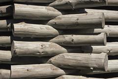 Lazy Ziggurat. Nikola-Lenivets. (Ilya Khuroshvili) Tags: logs pattern wood connection village weathered shadow nikolalenivets lazy ziggurat frontal