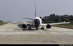 Blue Panorama Boeing 737-4Q8 EI-FVA @ Skiathos Airport (LGSK/JSI) (Joshua_Risker) Tags: skiathos airport lgsk jsi greece blue panorama airlines boeing 737 737400 eifva