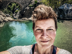 Here I am (Melissa Maples) Tags: göynük turkey türkiye asia 土耳其 apple iphone iphonex cameraphone summer qualistavillage bridge swimminghole river water me melissa maples selfportrait woman brunette
