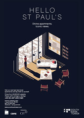 Tom Haugomat's cinematic posters for luxury apartments in a Southbank high-rise (inspiration_de) Tags: apartment architecture luxury poster southbank