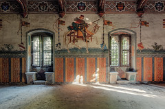 Sir Lancelot (maxmene70) Tags: urbex decay abandoned castle architecture light sir lancelot horse dark urban exploration