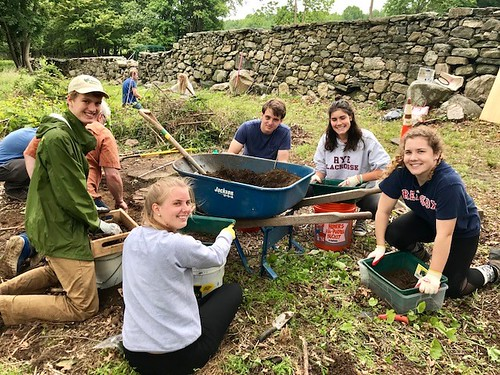 Adele Harshbarger and volunteers helped with archaeology