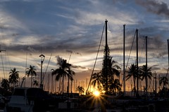 Sunset at the Harbor (Fletch in HI) Tags: nikon d5600 tamron 16300 oahu hawaii honolulu ocean sunset sky clouds boats