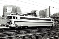 Société Nationale des Chemins de fer Français (French National Railways) - SNCF Class CC 40100 electric locomotive Nr. 40101 at Paris Gare du Nord (HISTORICAL RAILWAY IMAGES) Tags: train railway sncf locomotive cc 40101 inox paris gare tee