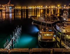 Tauranga Harbour at Night (Kiwi-Steve) Tags: nz newzealand northisland bayofplenty tauranga taurangaharbour night evening boats harbour nikon nikond7200
