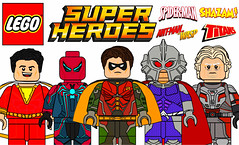 Amazing Custom Lego Superheroes Minifigures !!! (afro_man_news) Tags: lego custom minifigures moc marvel ant man wasp deadpool spiderman robin teen titans dc superhero superheros characters hank pym iron deadpoolironman punk velocity suit shazam captain billy batson aquaman thomas curry ocean master ps4 all