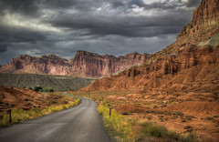 Capitol Reef National Park (donnieking1811) Tags: fruita capitolreefnationalpark capitolreef nationalpark outdoors scenery mountains road sky clouds hdr canon 60d lightroom photomatixpro utah