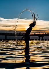 Summer at the baltic sea - Sommer an der Ostsee (cgruenberg) Tags: sommer summer sunset sonnenuntergang zingst wasser tropfen drop haare hair silhouette a6500 sony sonyzeiss24mm18