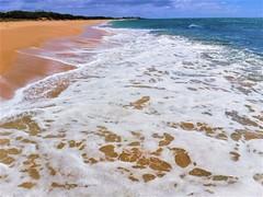 Foam (thomasgorman1) Tags: fujifilm beach sea tide ocean papohaku island shore hawaii molokai