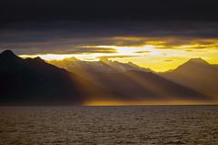 Alaska Sunset (Steve Corey) Tags: alaska sunset tongasnationalforest ocean particulate golden highpressure sitka air weather season clouds