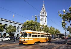 MUNI 1075 at the Ferry Building (Justin Franz) Tags: 2020msrcalendar streetcar sanfrancisco