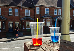 TLOP: Red & Blue (amazingstoker) Tags: new straw plastic basingstoke basingrad amazingstoke tlop blue road red yellow cup lumiere lamppost brick lamp wall bystander post tiewrap cable tie abandoned colourful moss flickr homage