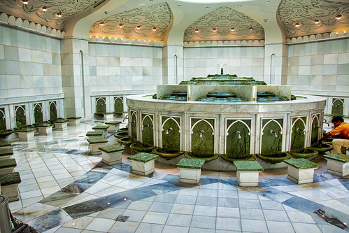 Ablution area of Sheikh Zayed mosque, Abu Dhabi