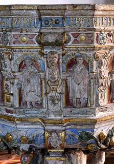 Minden, Westfalen, Marienkirche, baptismal font, detail