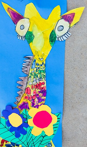 """1st grade African Giraffe Paintings #giraffe #drawing #painting #art #collage #1st #1stgrade #arteducation • <a style=""""font-size:0.8em;"""" href=""""http://www.flickr.com/photos/57802765@N07/42990441375/"""" target=""""_blank"""">View on Flickr</a>"""