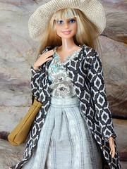 Boho Days – the brown ethnic pattern knit coat (Levitation_inc.) Tags: ooak doll dolls clothes handmade fashion fashions royalty nuface integrity toys levitationfashion etsy barbie barbiestyle poppy parker summer boho 2018