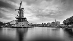 Molen de Adriaan - B&W edit (jameslf) Tags: amsterdam canals city haarlem netherlands reflections river town windmill