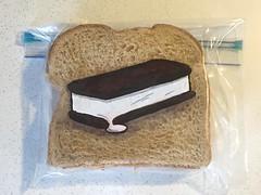 Ice cream sandwich (D Laferriere) Tags: melt melting attleboro laferriere ice cream sandwich bag art sharpie