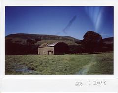 Thursday 28th June (ronet) Tags: fuji thursdaywalk barn edale field film instantfilm instax instax200wide kindescout pasture peakdistrict utata utata:project=tw636