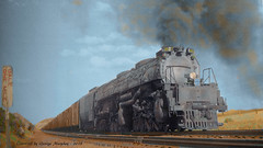 "Union Pacific ""BIG BOY"" colorized (gdmey) Tags: locomotive bigboy colorized steam"
