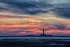 last year........ (SonjaS.) Tags: westerhever leuchtturm lighthouse canon6d sonnenuntergang sunset erinnerung urlaub nordsee deutschland germany wolken clouds tele zoom sonjasayer