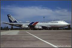N807FT / BSL 17.05.1984 (propfreak) Tags: propfreak propfreakcollection slidescan lfsb bsl mlh basle mulhouse euroairport n807ft boeing b747249f flying tigers b747200