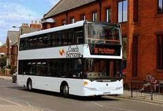 Coach Services at Bury (Chris Baines) Tags: coach services scania omnidekka lx59 cpk 86 service from brandon bury st edmunds