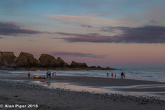 Family sea-fishing party (PapaPiper) Tags: fire bonfire seafishing seascape dusk sunset beach bunmahon countywaterford ireland eire sky lastlight clouds greatphotographers