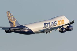 N855GT, Boeing 747-8F, Atlas Air, Hong Kong