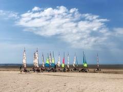 Sand sails at Cherrueix (toddvic) Tags: beachfun brittany cherrueix sandsailing