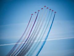 Red Arrows, Peterhead (that petrol emotion) Tags: redarrows royalairforce aerobatic baehawk aerialdisplayteam jets synchronised harbour peterhead aberdeenshire