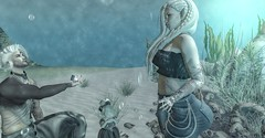 Under the Sea Proposal (☢.:Myth:.☢) Tags: secondlife sl sea water yes proposal family love mine his ring