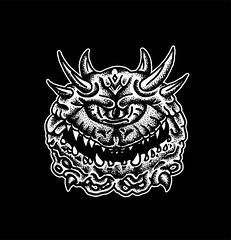 Cacodemon (Bastian Klak) Tags: tribute fanart cacodemon doom game oldschoolgame demon monster klak bastianklak stippled dots black ink liner santiago chile