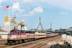 First and Finest (sullivan1985) Tags: mbta mbtx mbtx1072 f40 f40ph2c f40ph bet boston keolis bostonstonegravel train railroad railway massachusetts ma passenger passengertrain commuter commutertrain bunkerhillbridge flag americanflag industrial newengland locomotive