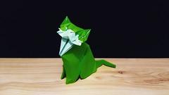 猫 (guangxu233) Tags: cat origami origamiart paper art paperart paperfolding yootaeyong 折纸 折り紙 折り紙作品