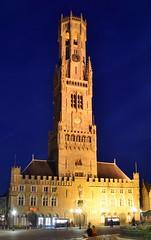 Belfort Brugge (eddespan (Edwin)) Tags: brugge stad vlaanderen westvlaanderen unescoworldheritagesite unescoheritagesite werelderfgoed belgië belgium belgique belgien blauweuurtje blauestunde bluehour belfort marktbrugge