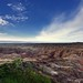 Big Badlands Overlook and Blue Skies with Clouds