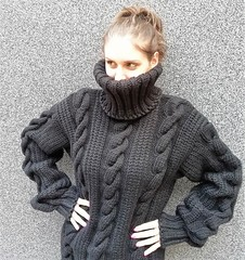 Charcoal cabled wool sweater (Mytwist) Tags: charcoal black hand knitted mohair wool sweater soft very heavy turtleneck pullover katrinbgshop jumper knit style design love passion mytwist cabled handknit craft cozy retro sexy knitwear outfit girl sweatergirl