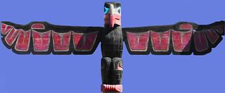 Totem head at Skagway AK