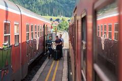 begegnung (dadiolli) Tags: bohinjskabistrica radovljica slowenien si wocheinerbahn bohinjrailway train station slovenia slov slovenskeželeznice slovenianrailways mirror spiegel
