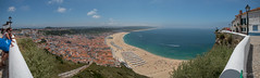 Nazaré (Portugal) (Jérôme Cousin) Tags: panasonic fz 1000 lumix fz1000 portugal panorama panoramic panoramique pano auto autopano stitch stitched nazare mer sea ocean beach plage surf