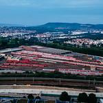 View of a Deutsche bahn hub / Ansicht einer deutschen Zugnabe thumbnail