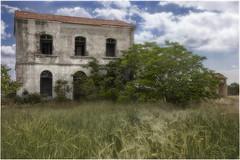Route  C M - 4 0 5 4 (Marijke M2011) Tags: canon castillalamancha spain ruins sky