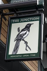 """The Junction, Newcastle Upon Tyne (newpeter) Tags: newcastle gateshead northeast greatbritain unitedkingdom england tyne tyneside """"st james park"""" strawberry sage quayside pub publichouses inns beer ale signs realale badges pubsigns"""