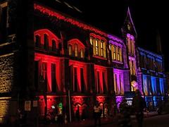 Botanic D'Lights - Christchurch (Maureen Pierre) Tags: light festival christchurchbotanicgardens christchurch newzealand artscentre historic garden building
