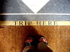 Standing There - Trip Here (Auntie P) Tags: feet cafe floor ground vectis isleofwight standingthere iow ryde orrery triphere